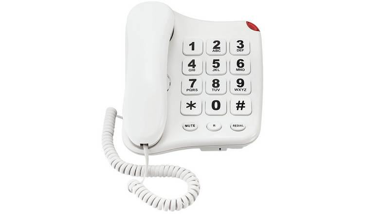 Simple Value Big Button Corded Telephone - Single