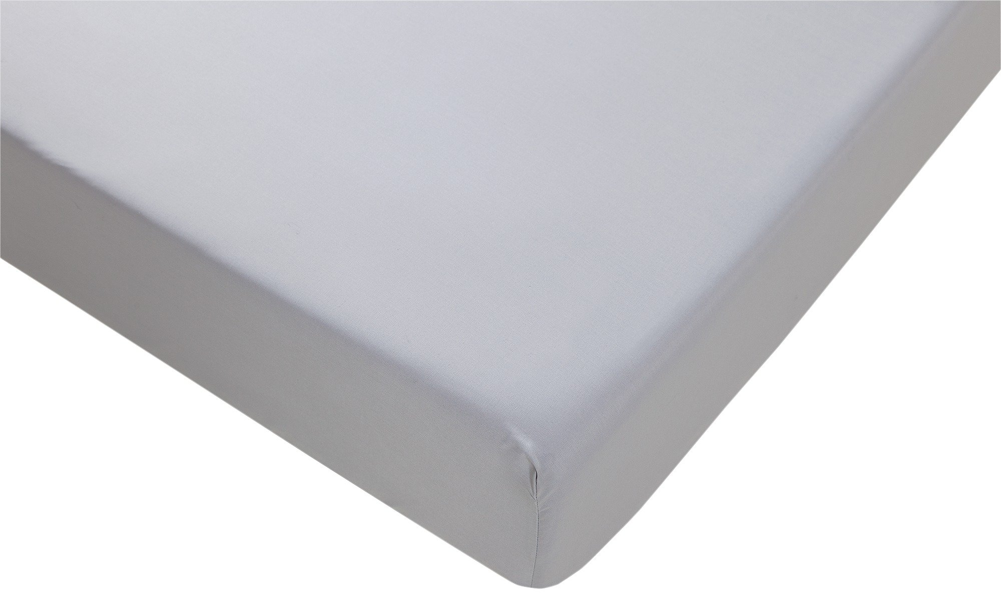 collection soft grey non iron fitted sheet  kingsize