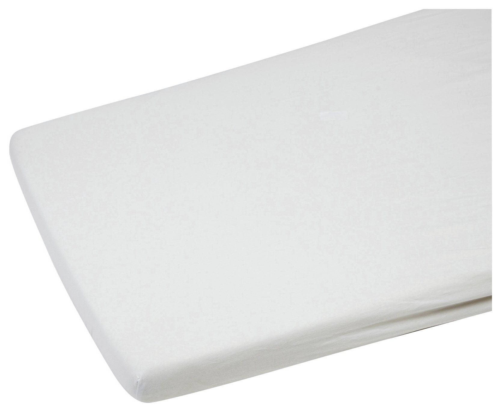 clair de lune  white  cot  bed sheets  2 pack