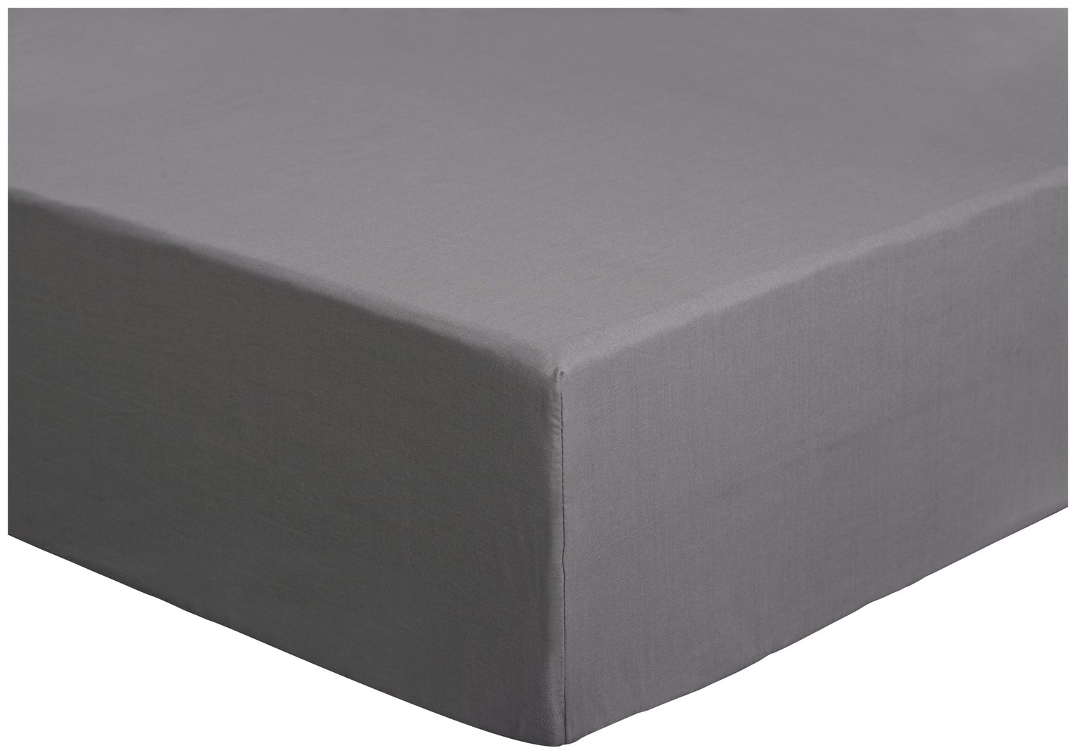 colourmatch flint grey fitted sheet  kingsize