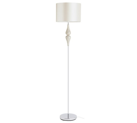 Buy Heart of House Eloise Crackle Floor Lamp - Champagne at Argos ...