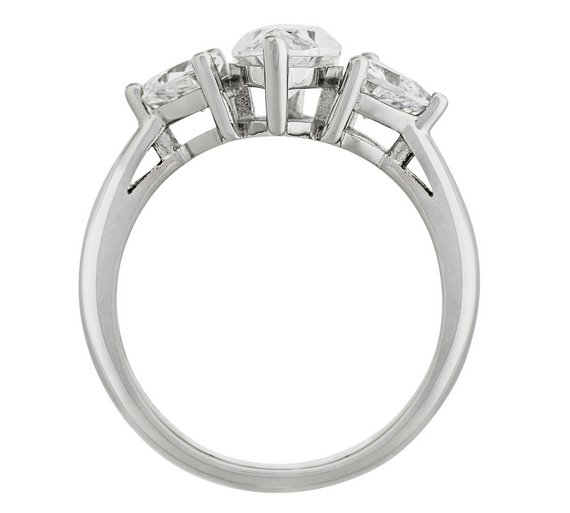 Buy Revere Platinum Plated Silver 2.70ct Look CZ Marquise