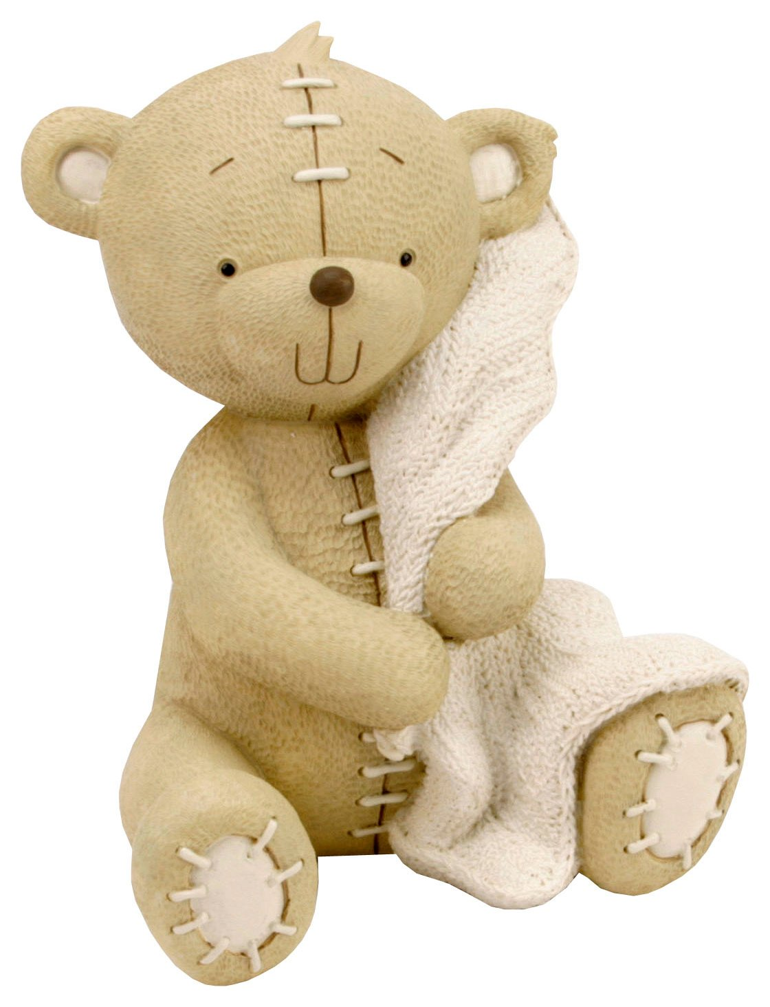 resin-bear-with-blanket-money-bank