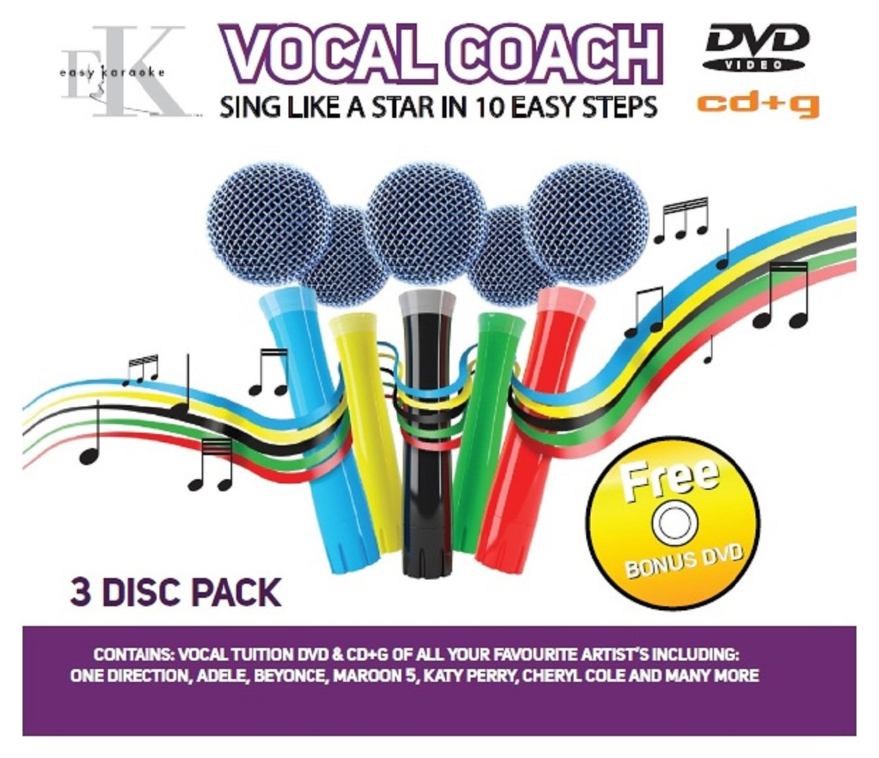 Image of Easy Karaoke - Vocal Coach CD+G and DVD