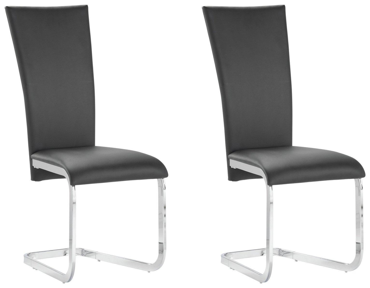 Image of Collection Oriana Pair of Cantilever Chairs - Black