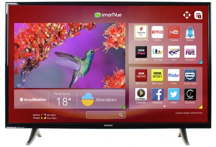 Hitachi 32 Inch HD Ready Freeview Play Smart LED TV.