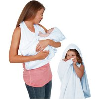 Clevamama - Splash'N'Wrap Baby Apron Towel - Blue