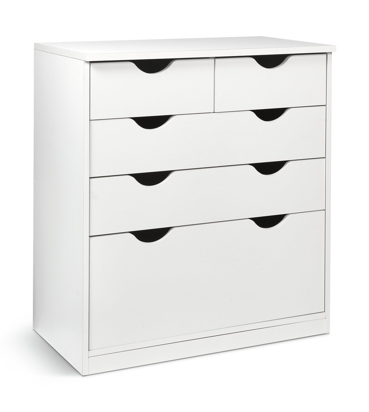 Argos Home Pagnell White Deep 3+2 Chest of Drawers