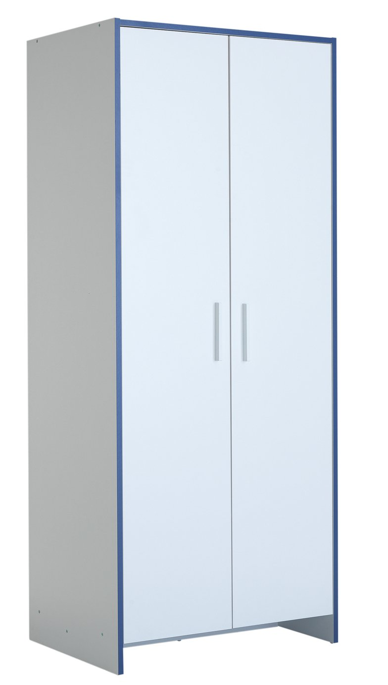 home  newport 2 door wardrobe  blue