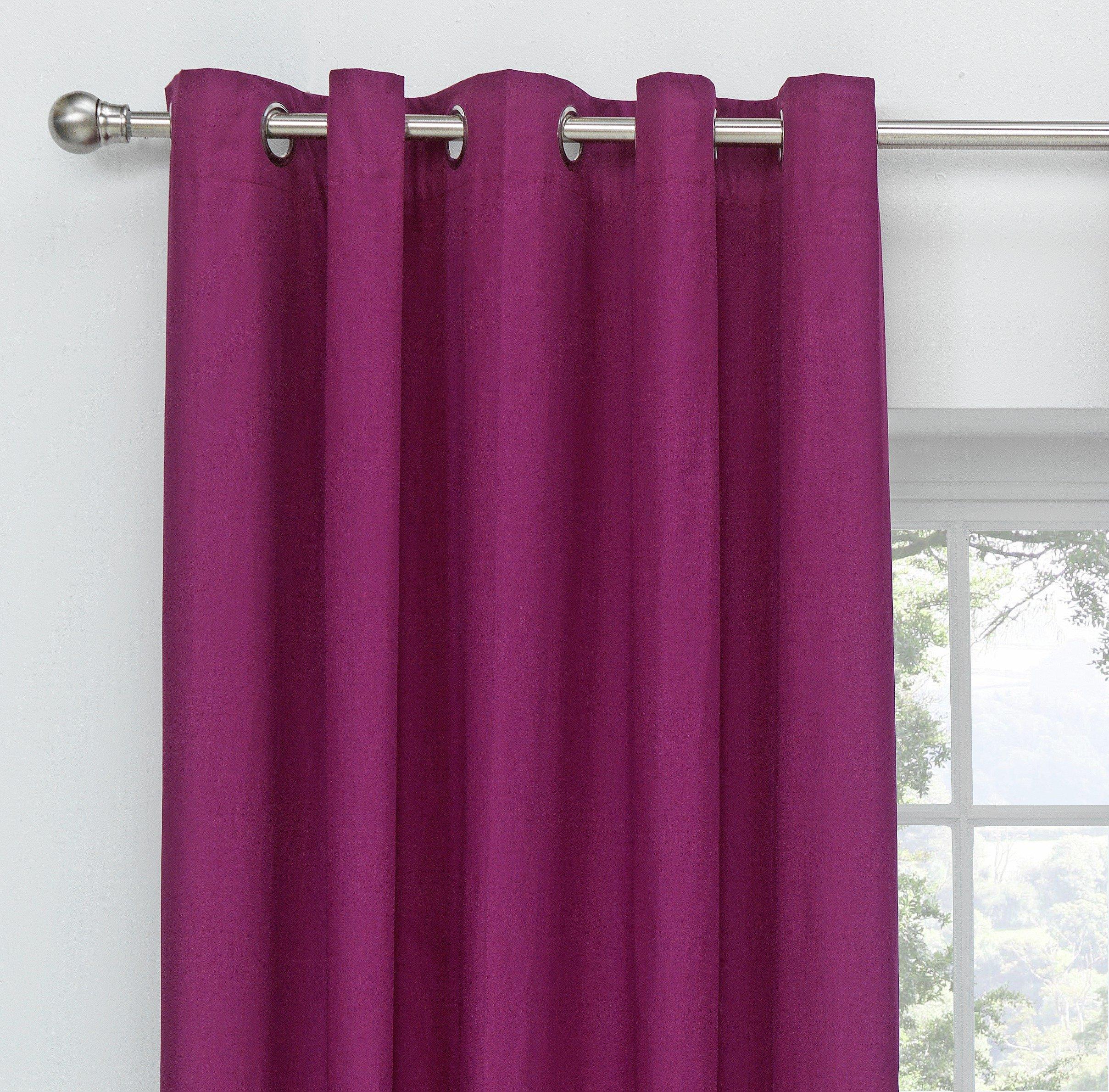 Image of ColourMatch Blackout Eyelet Curtains - 117x183cm - Grape
