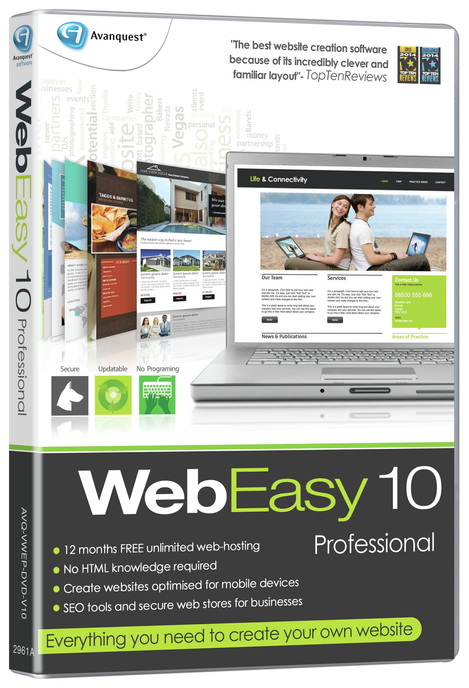 Image of Avanquest - WebEasy Professional 10 Website Creation Software