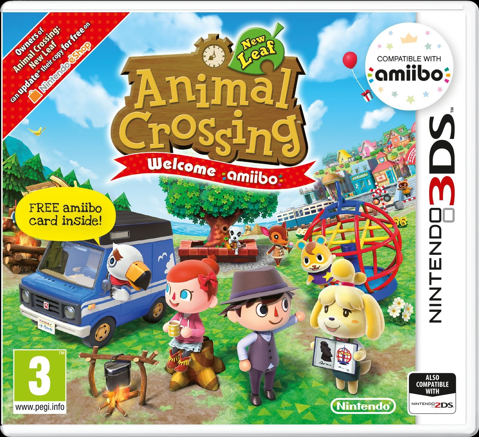 Nintendo Animal Crossing: New Leaf Welcome Amiibo 3DS Game and Card.