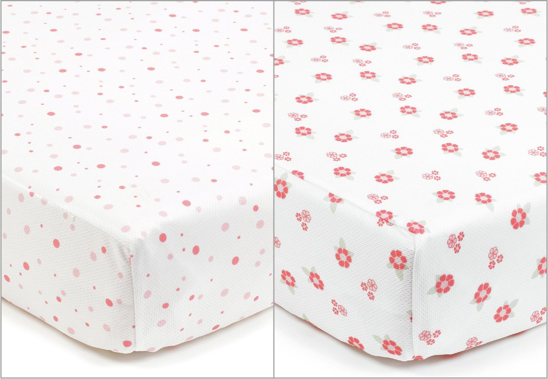 Image of BreathableBaby - 2 - Cot - Bed Sheets - English Garden