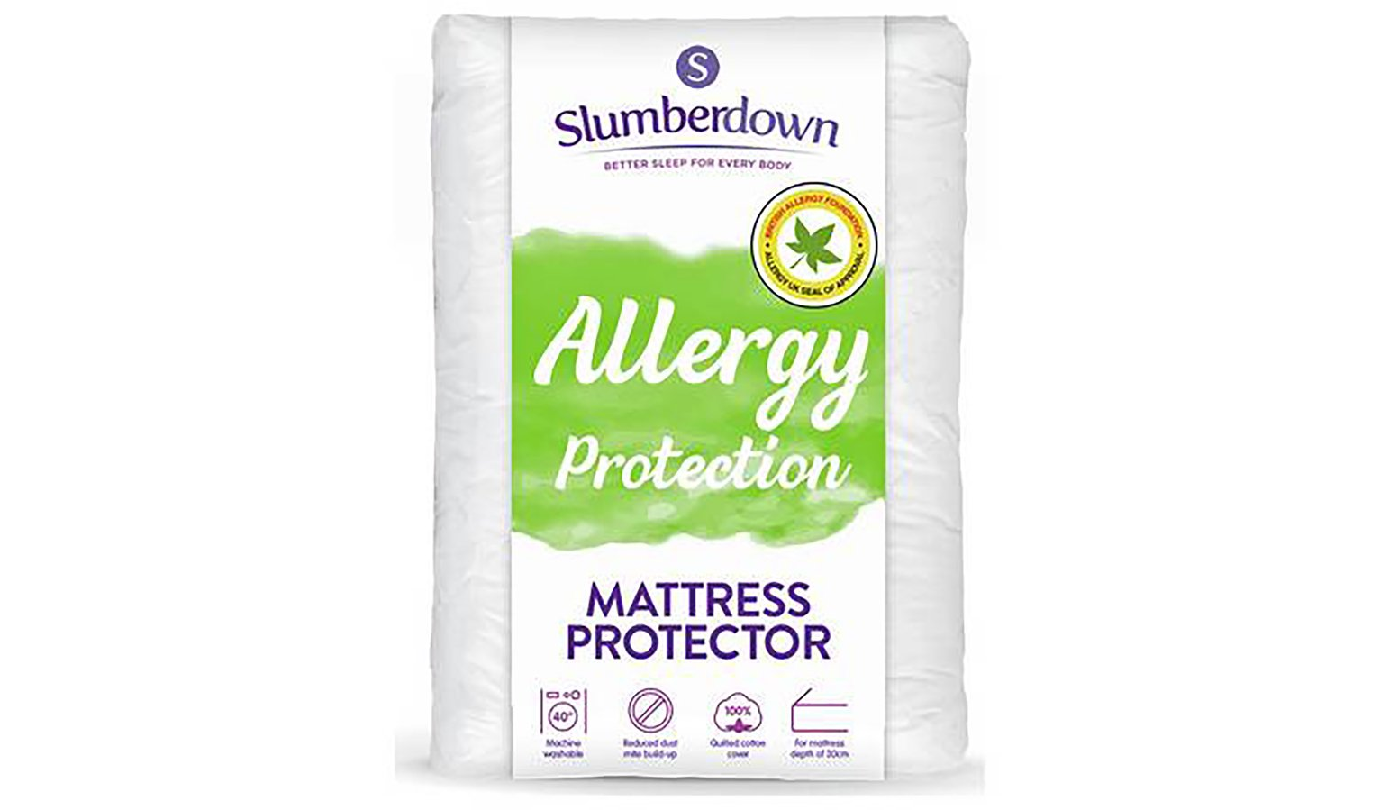 slumberdown fresh and healthy mattress protector  double