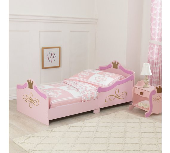 Buy KidKraft Princess Wooden Toddler Bed At Argoscouk