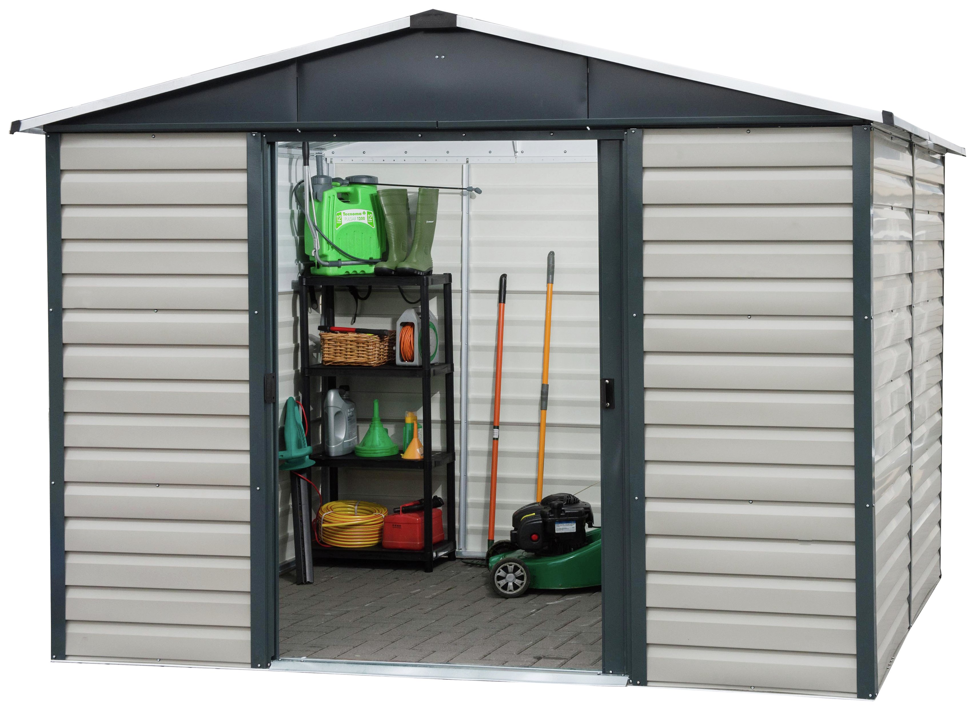 Yardmaster 8 x 6 extra tall metal shiplap shed for Extra large metal sheds