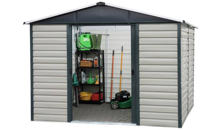 Yardmaster Extra Tall Metal Shiplap Shed - 8 x 6ft