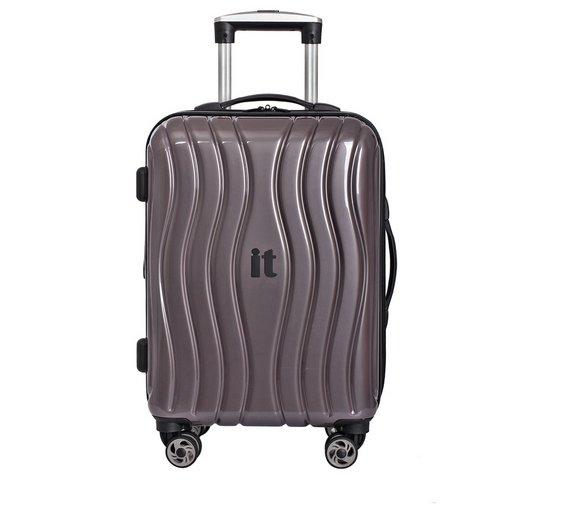 Buy IT Luggage Small Hard 8 Wheel Suitcase - Metallic at Argos.co ...