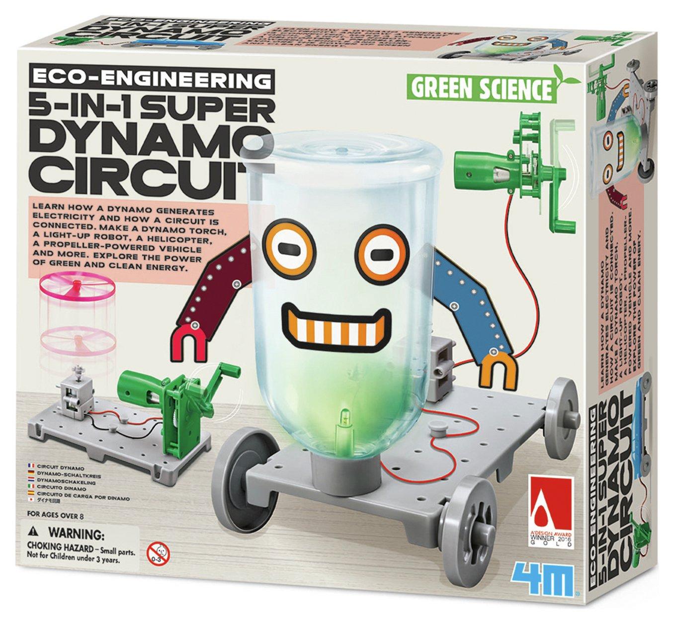 Image of 4M Green Science Dynamo Circuit Board.
