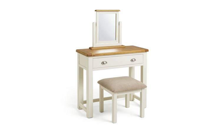 reputable site 9f3d8 573b3 Buy Argos Home Kent Dressing Table, Stool Mirror - Cream/Oak | Dressing  tables | Argos