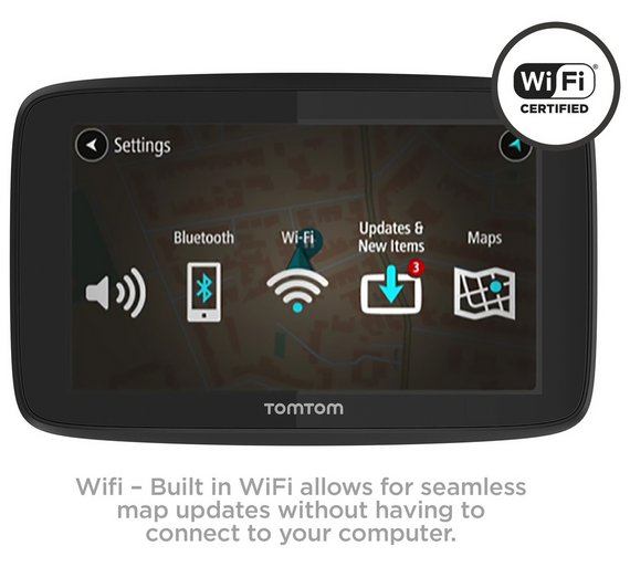 Buy tomtom go 520 5 inch traffic sat nav with wi fi world maps at play video gumiabroncs Image collections