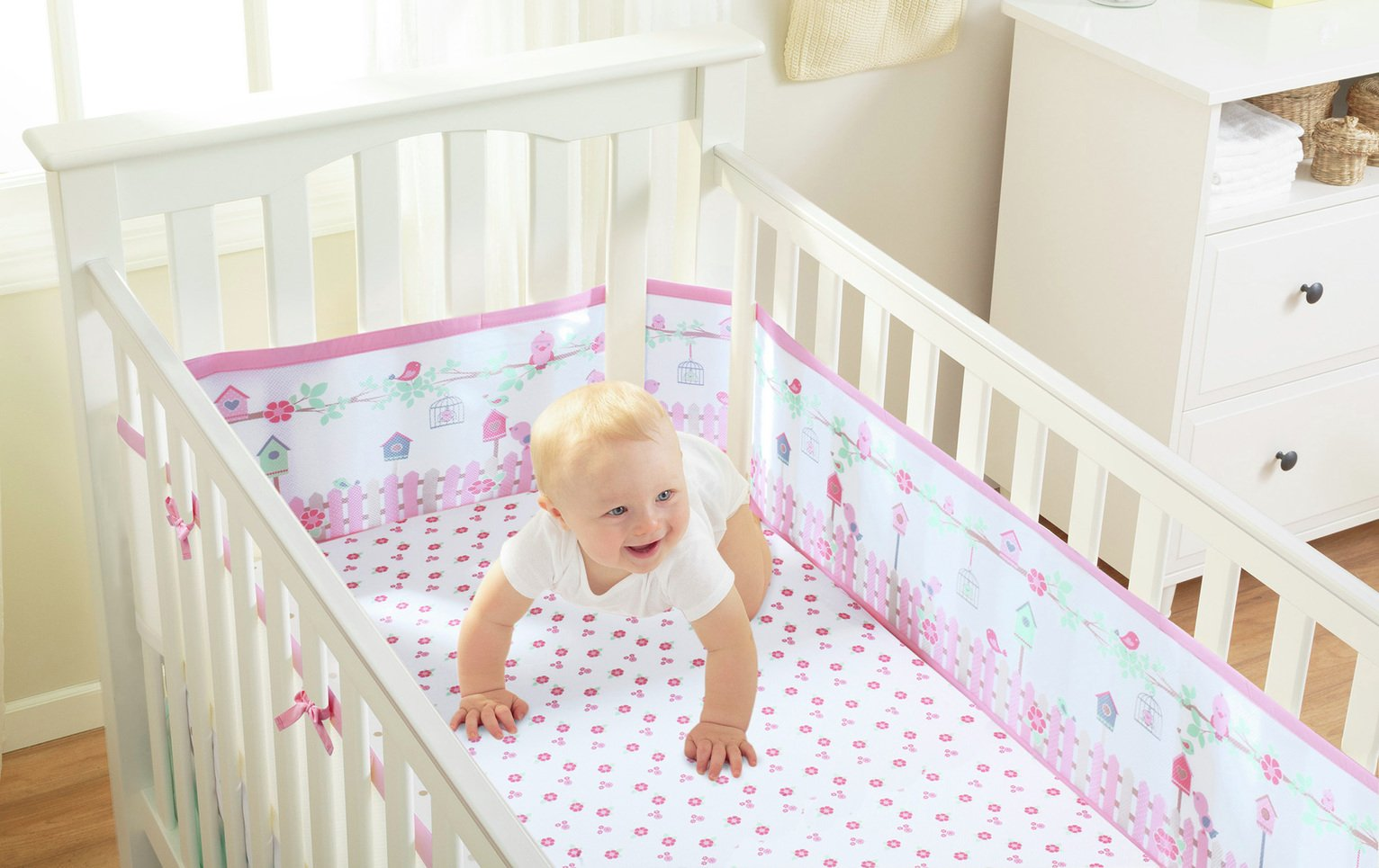 Image of BreathableBaby - 2 - Cot Sheets - English Garden