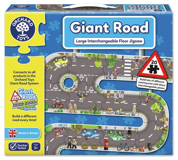 Buy orchard toys giant road jigsaw at argos your online orchard toys giant road jigsaw gumiabroncs Image collections