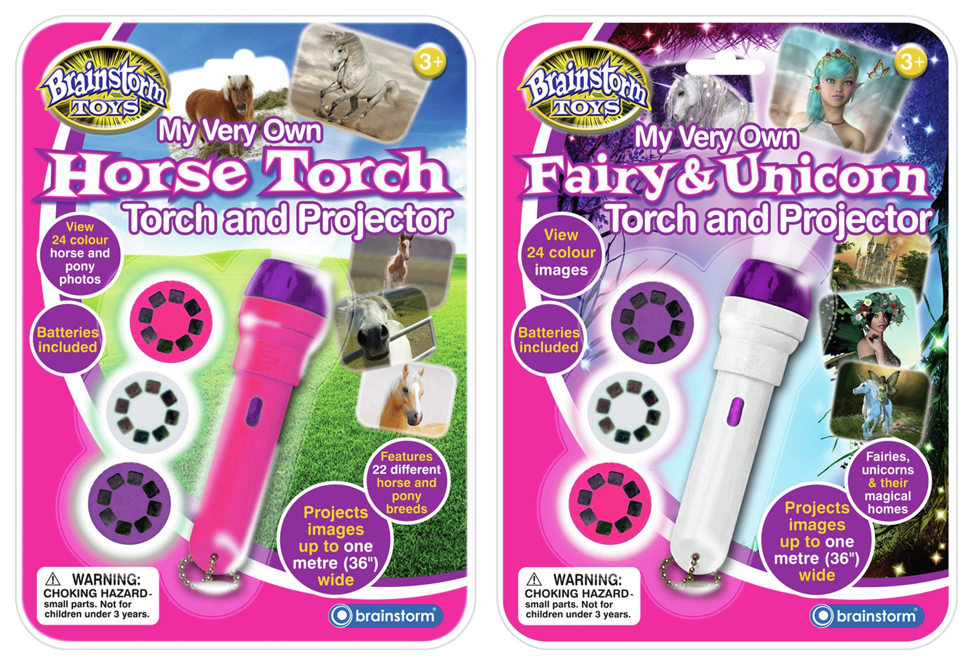Fairy Unicorn Horse Torch Projector Twin Pack.