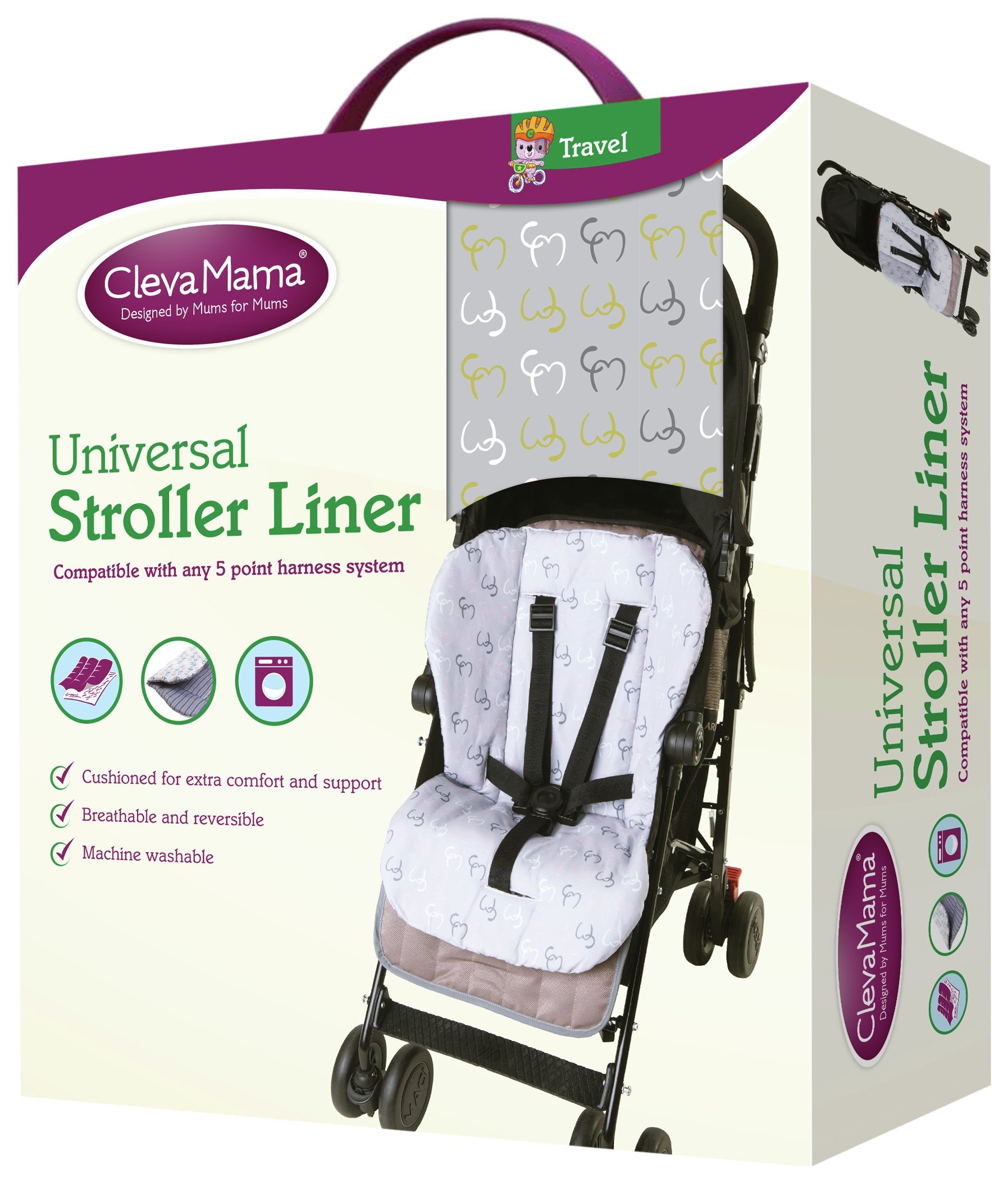 Image of Clevamama - Stroller Liner - Lime