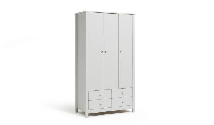 Habitat Osaka 3 Door 4 Drawer Wardrobe - White