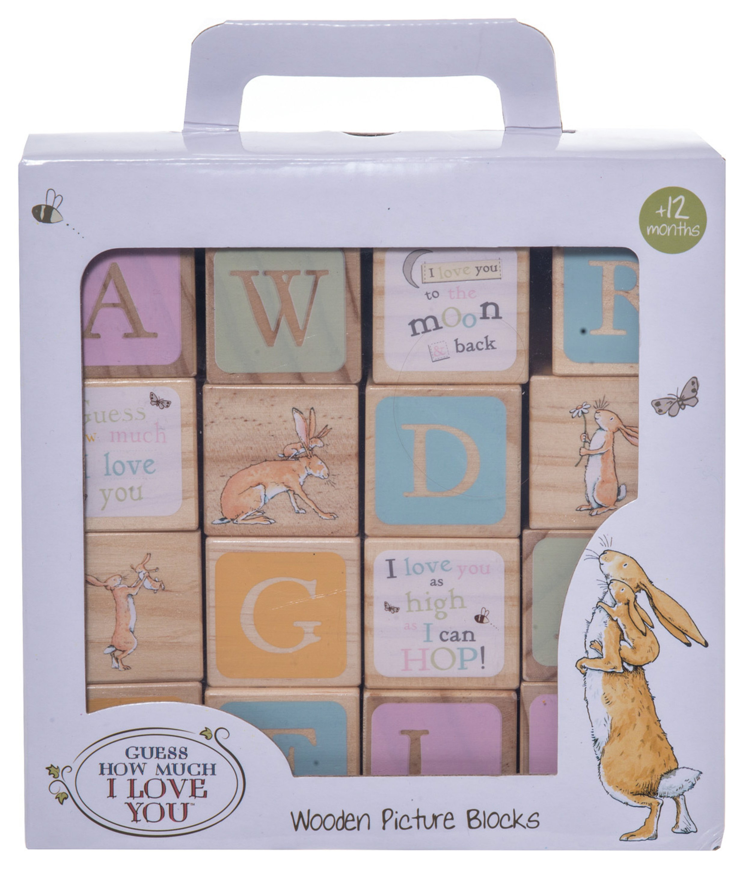 Image of Guess How Much I Love You Wooden Picture Blocks.