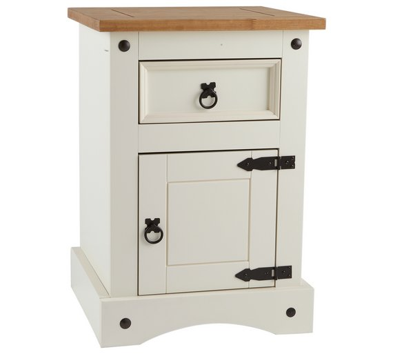 Collection Puerto Rico Bedside Chest White Pine