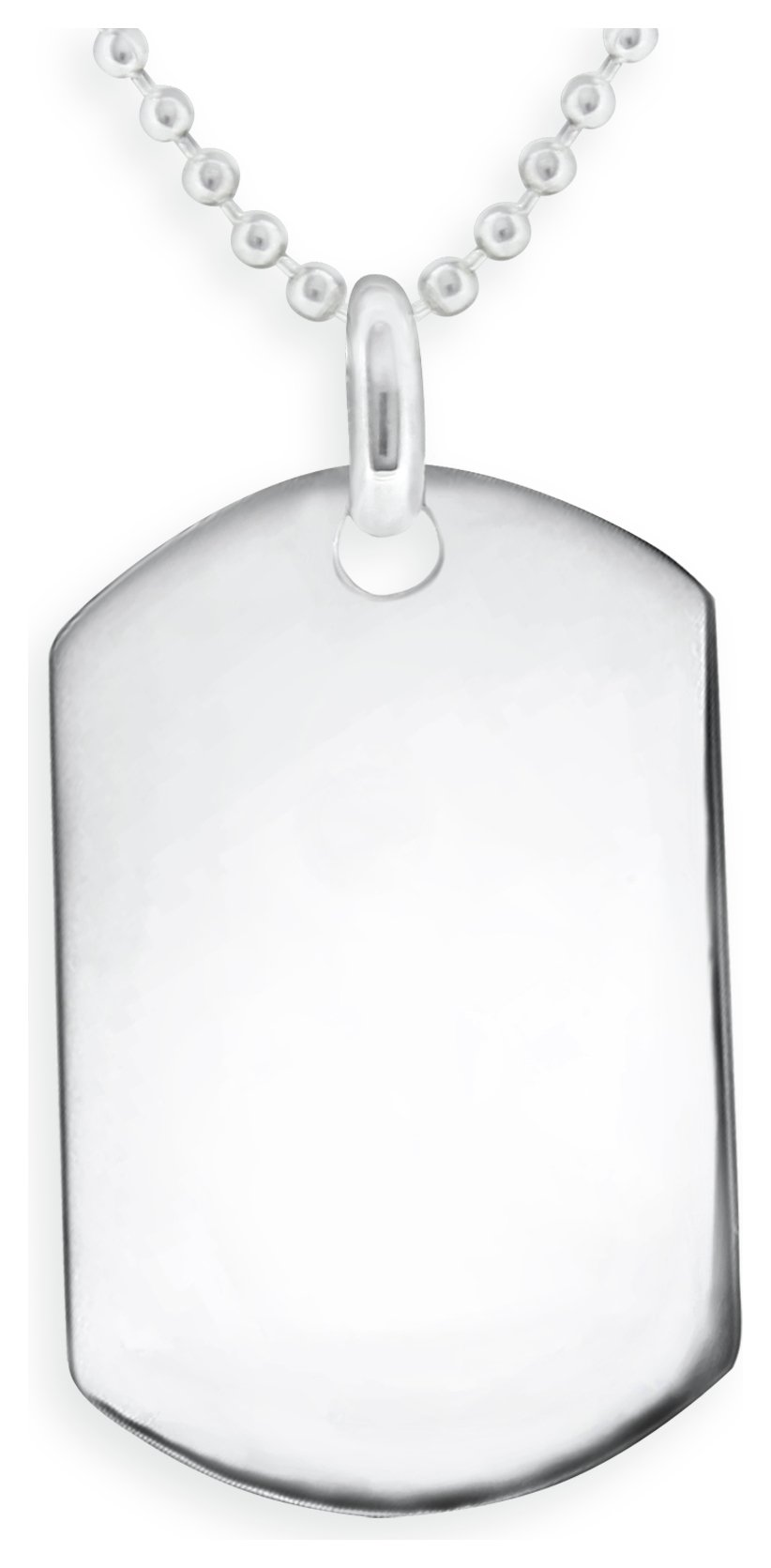 Image of Domain - Sterling Silver - Dog Tag Pendant Boxed