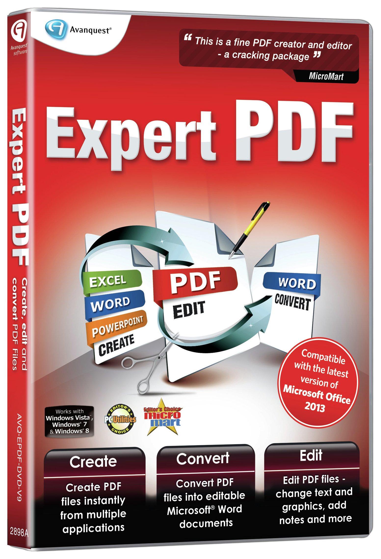 Image of Avanquest - Expert PDF V.9 Design Software
