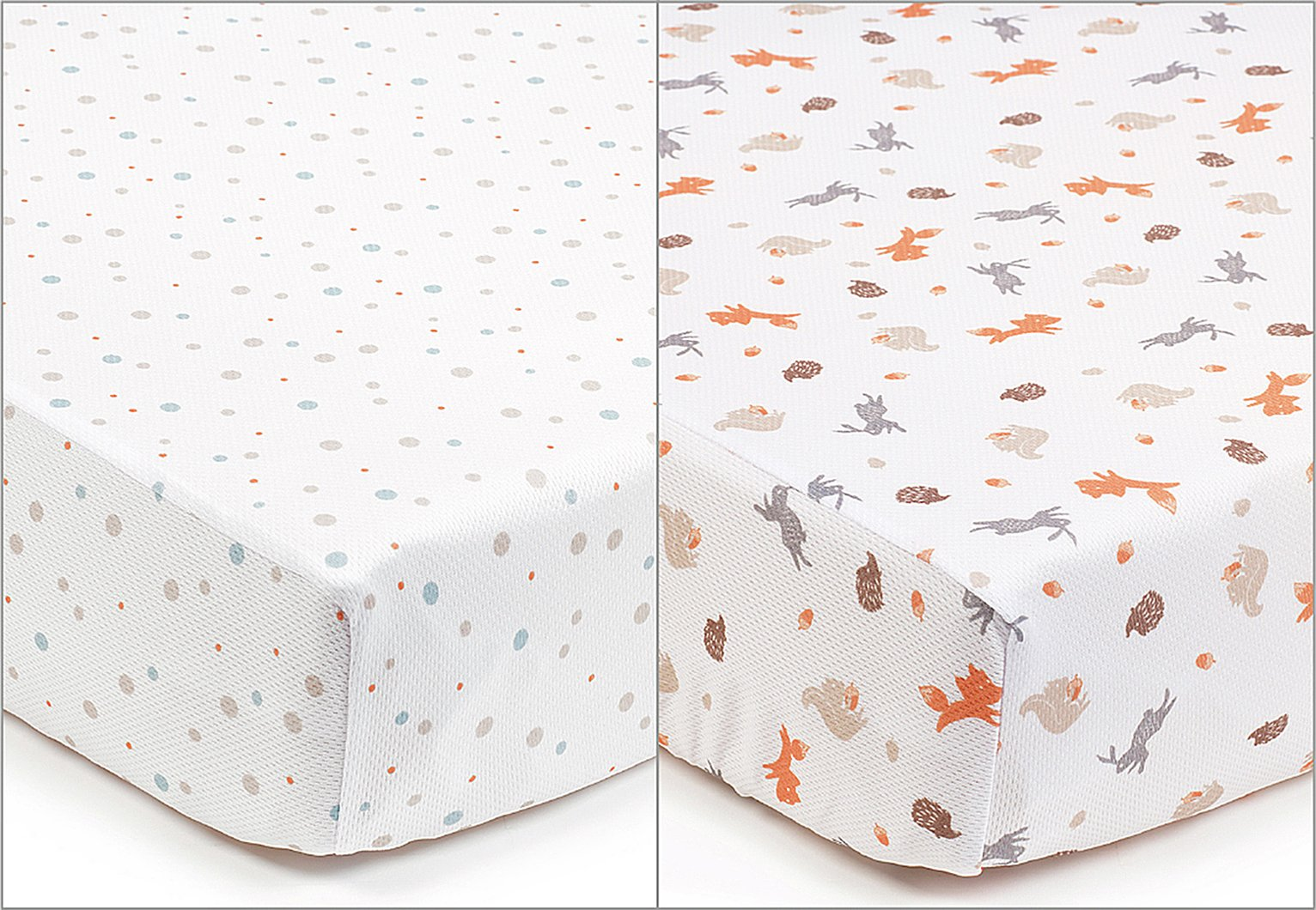 Image of BreathableBaby - 2 - Cot Sheets - Enchanted Forest