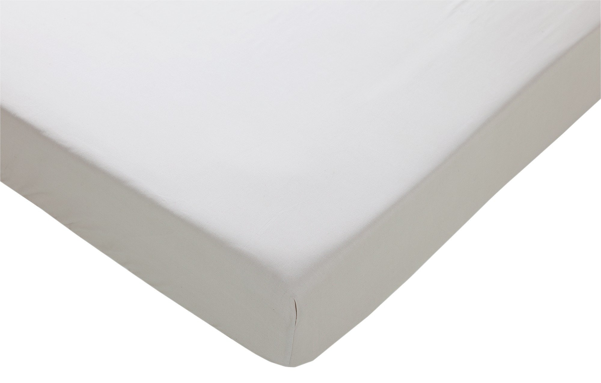 collection pebble non iron fitted sheet  double