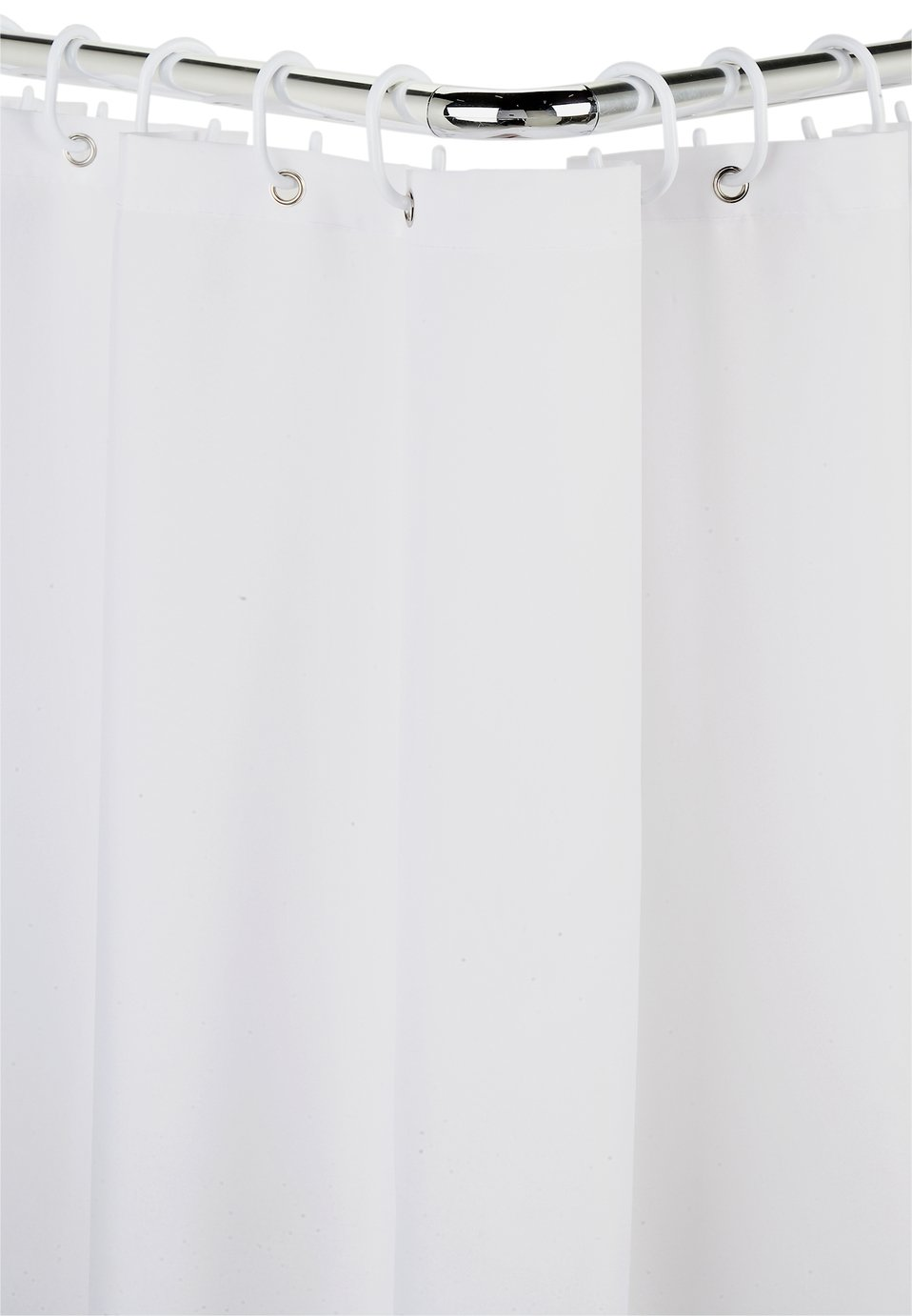 'Croydex - Modular Aluminium Shower Curtain & Rail Set - Chrome