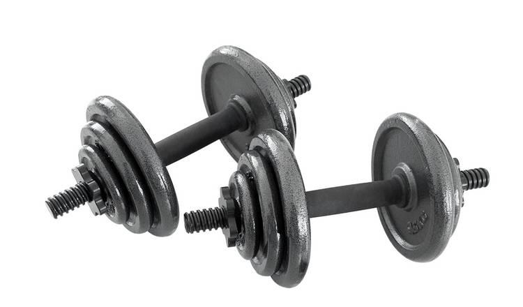 Buy Opti Cast Iron Dumbbell Set - 20kg | Dumbbells | Argos