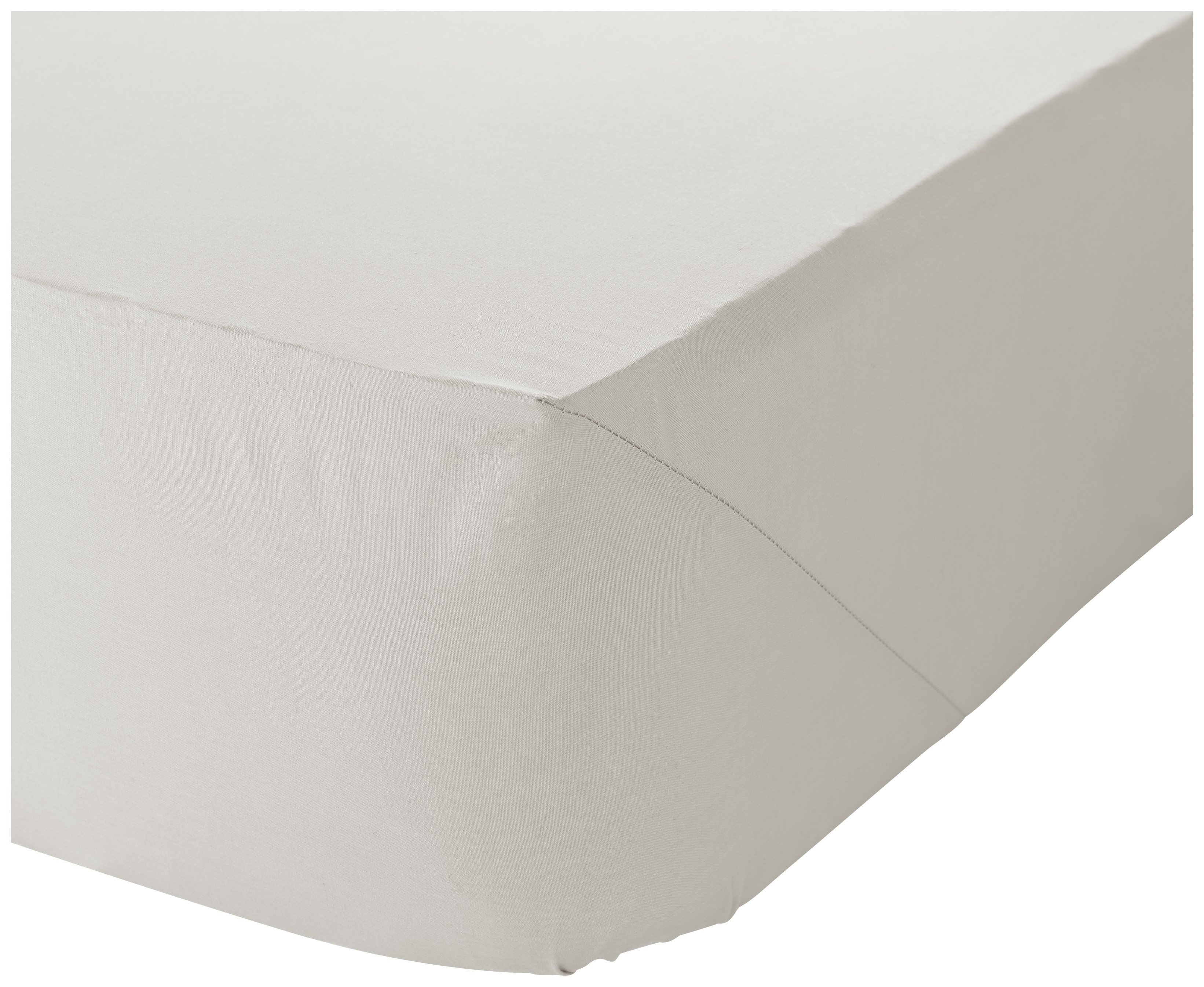 catherine lansfield cream noniron fitted sheet  single.