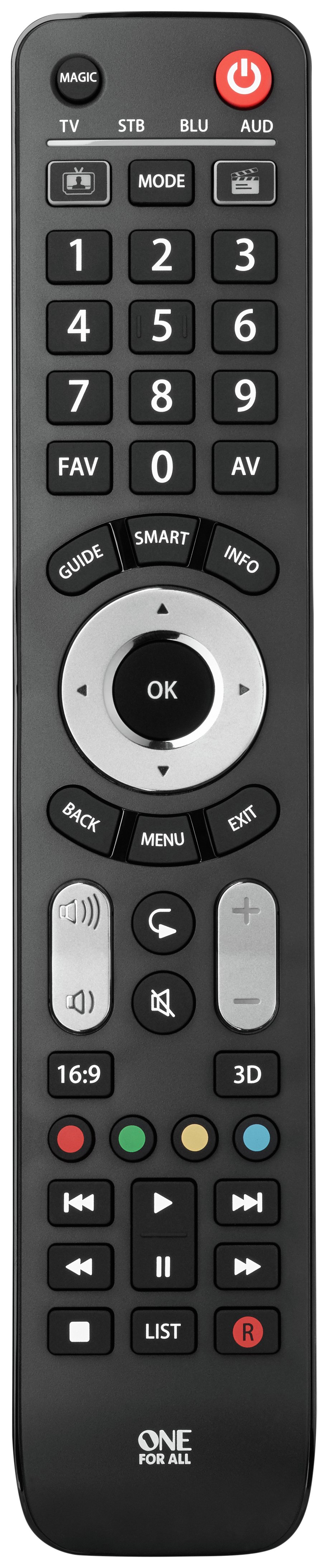 One for All One For All Evolve 4 Way Remote Control.