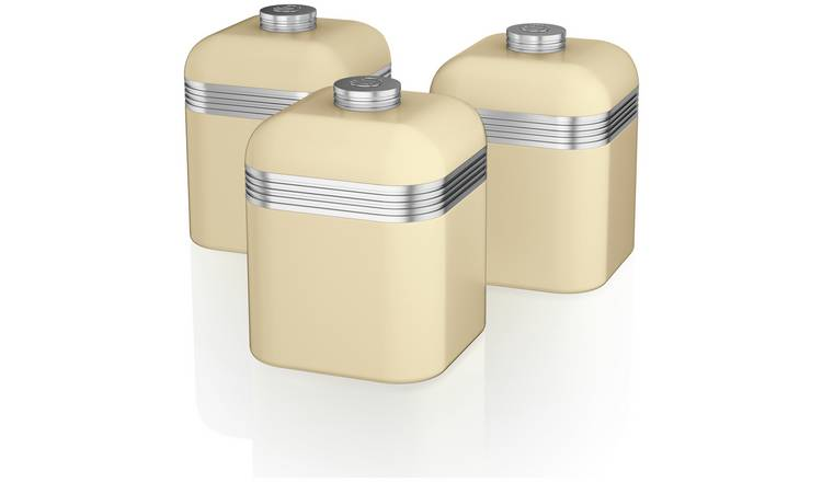 d9868b49d479 Buy Swan Canister Set - Cream | Storage jars and sets | Argos