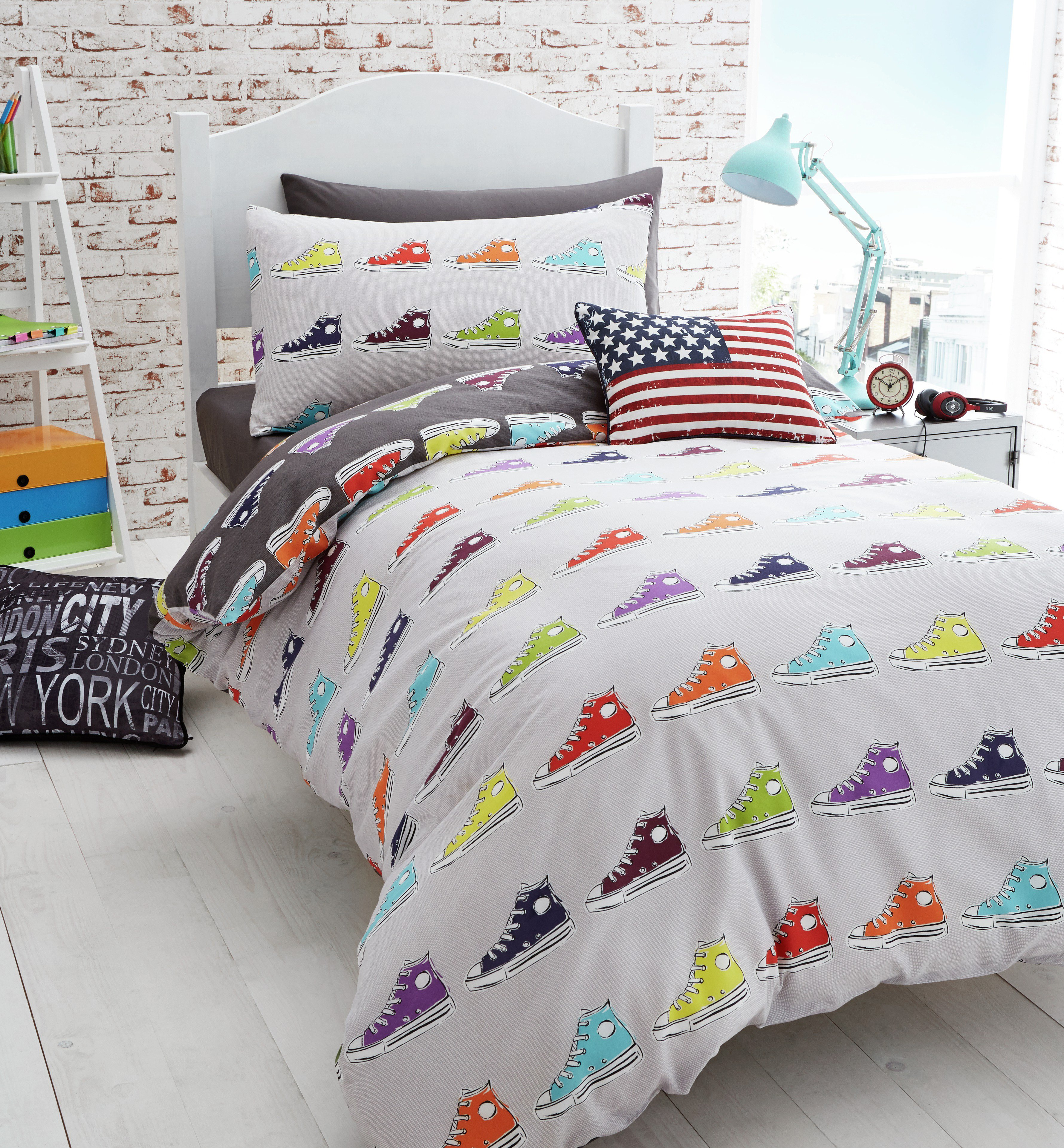 catherine lansfiield sneakers duvet cover set  double.