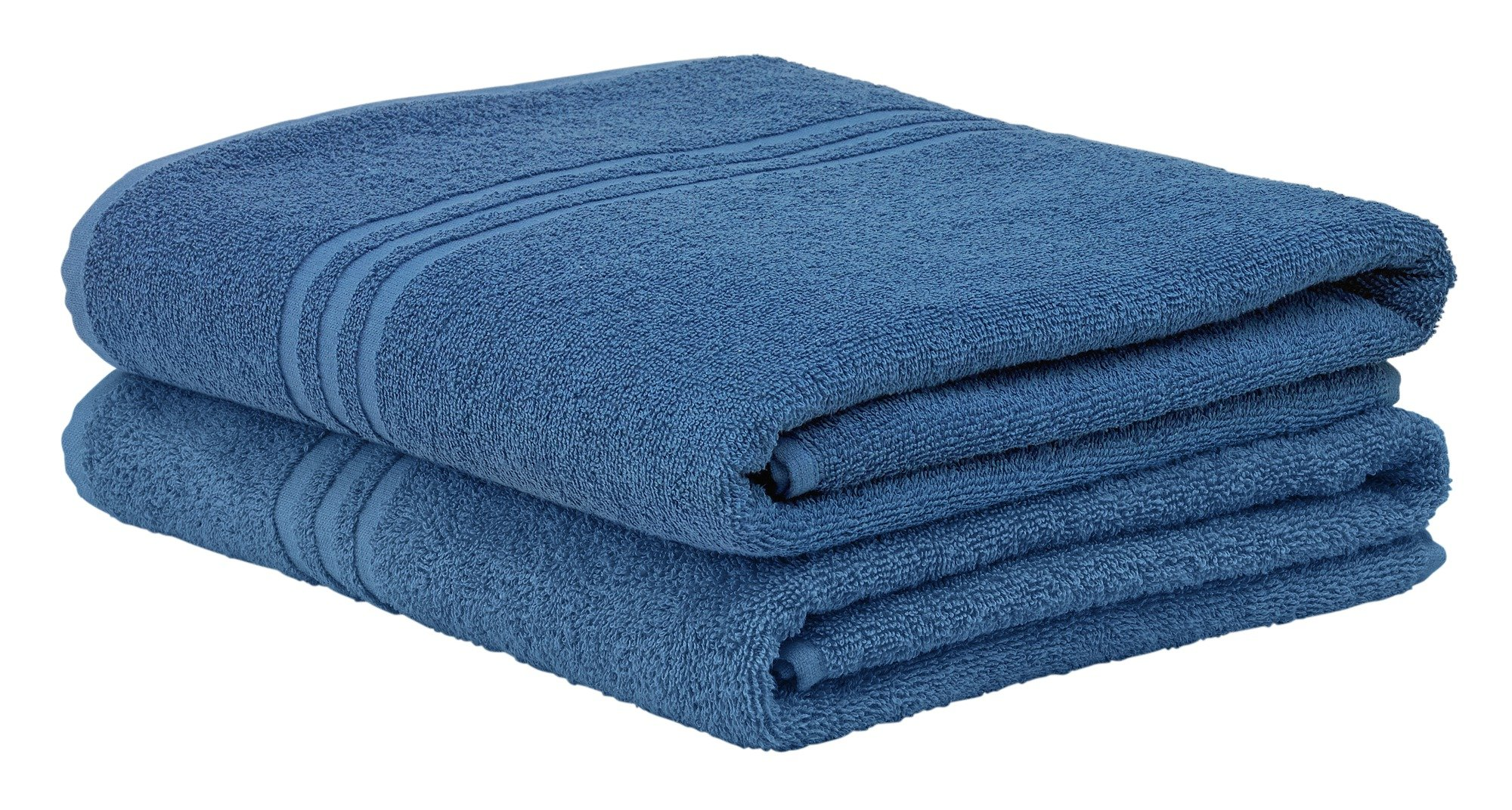 Image of ColourMatch - Pair of Bath Sheets - Ink Blue