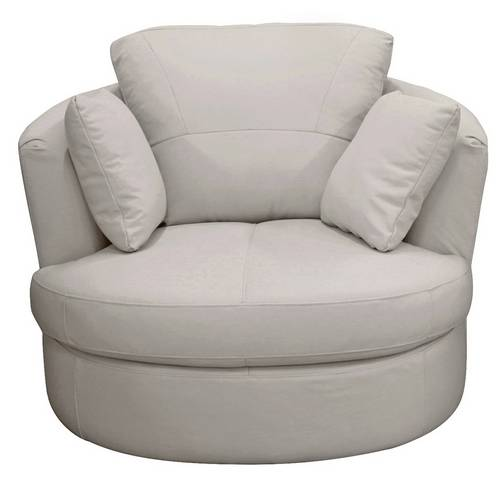 Swell Buy Argos Home Milano Leather Swivel Chair Light Grey Armchairs And Chairs Argos Gamerscity Chair Design For Home Gamerscityorg