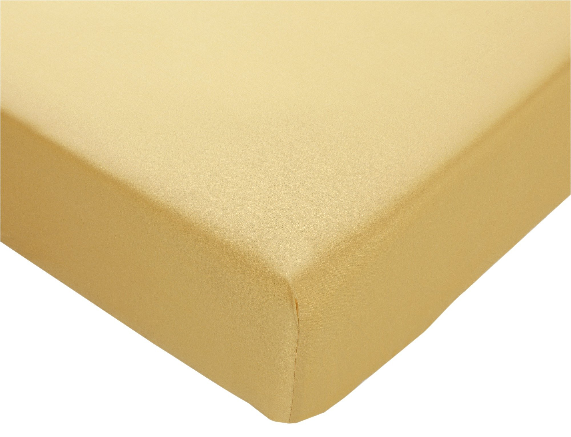 collection ochre non iron fitted sheet  single