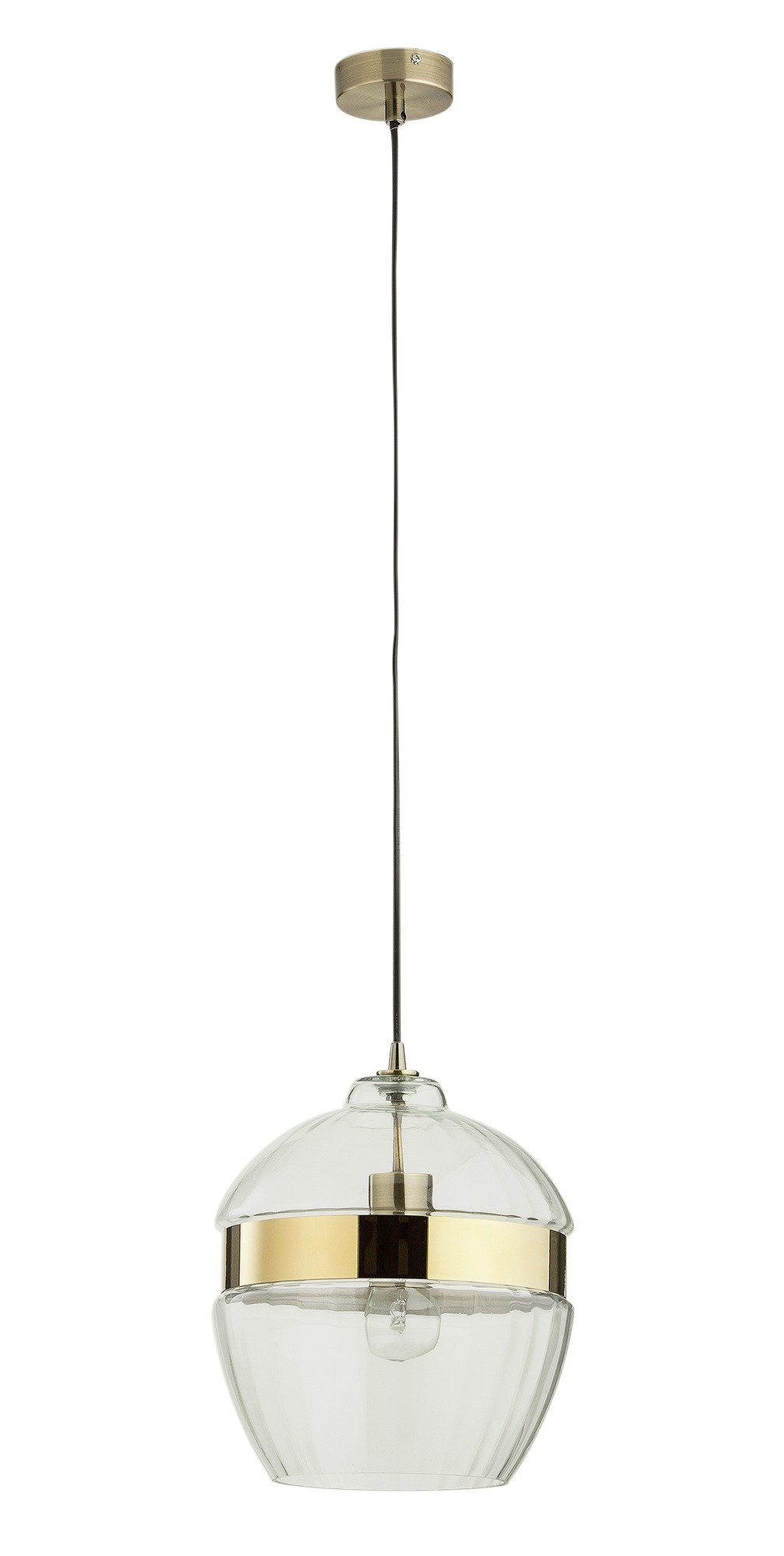 heart of house rutland ribbed glass and brass pendant. Black Bedroom Furniture Sets. Home Design Ideas