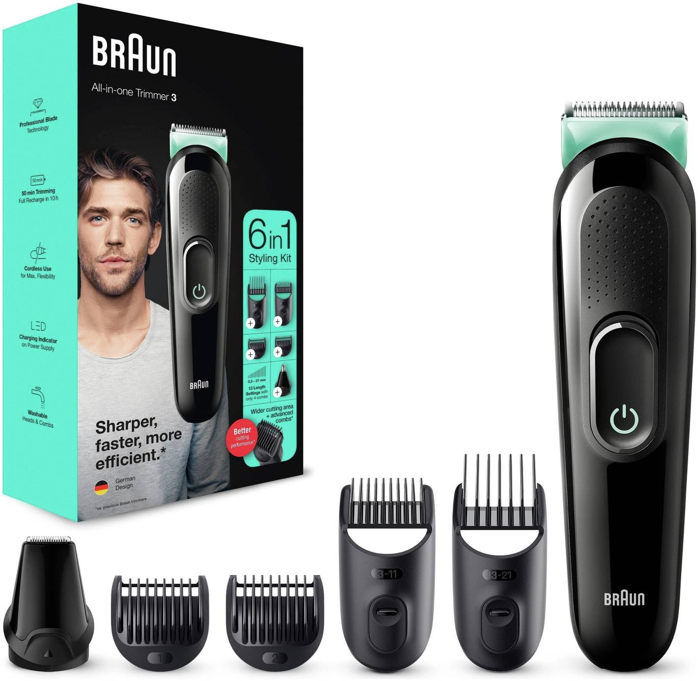 Braun MGK3021 6-in-1 Beard Trimmer & Hair Clipper
