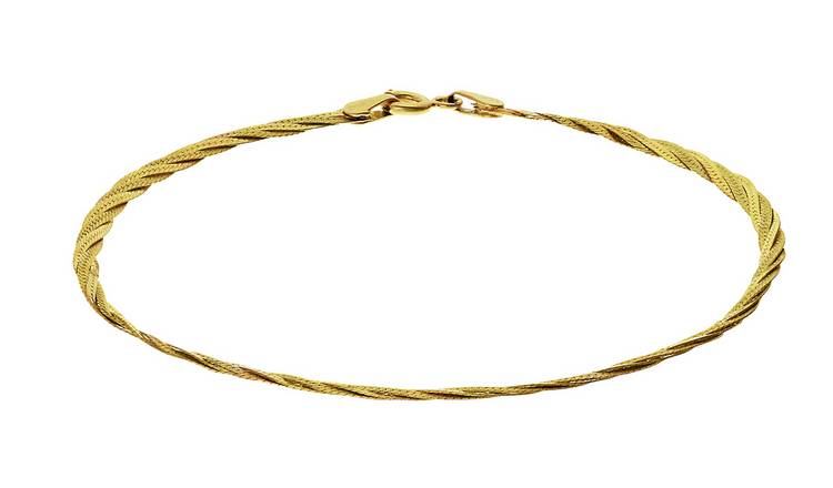 Revere 9ct Yellow Gold Herringbone Bracelet