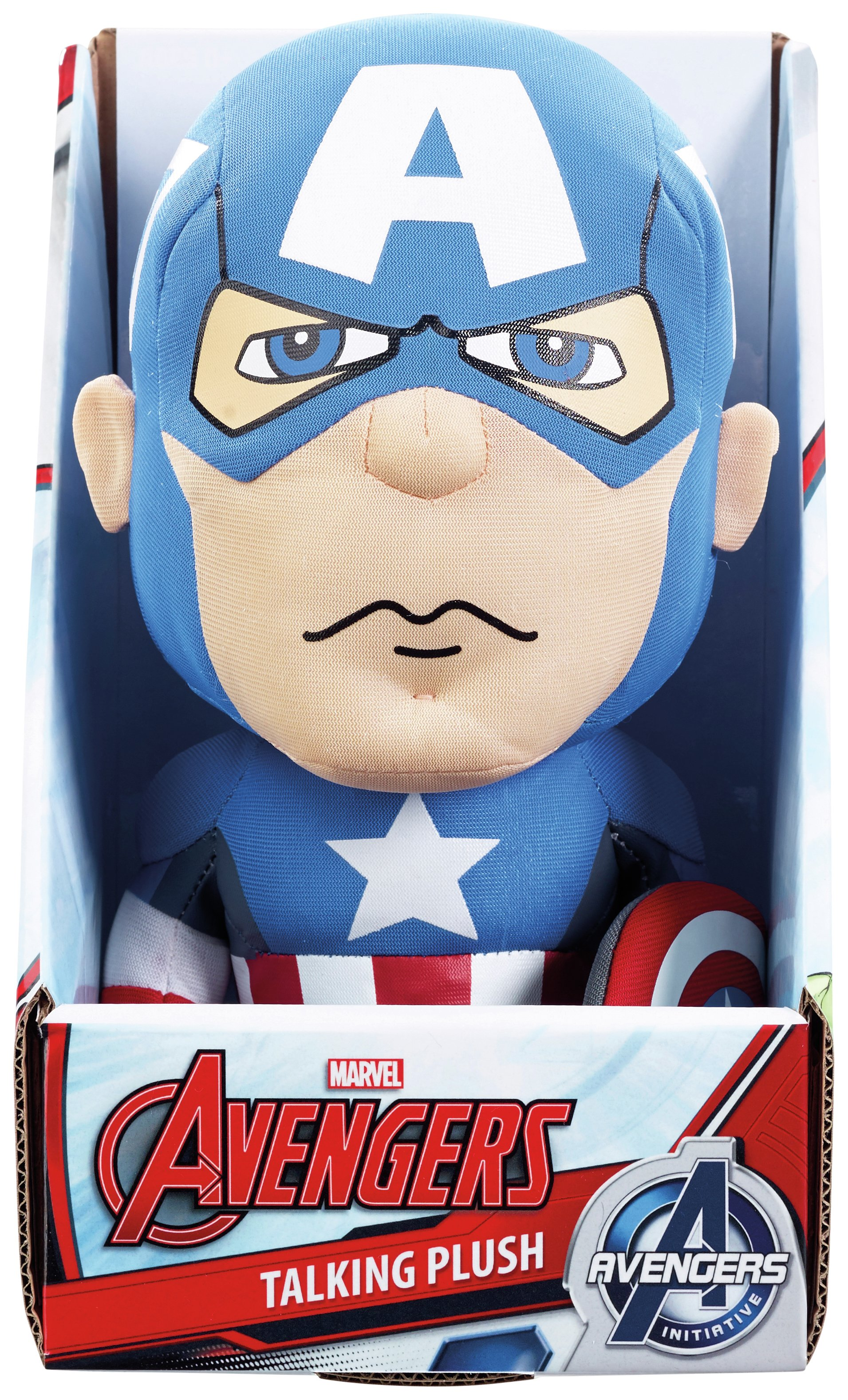 Image of Avengers Medium Talking Plush - Captain America.