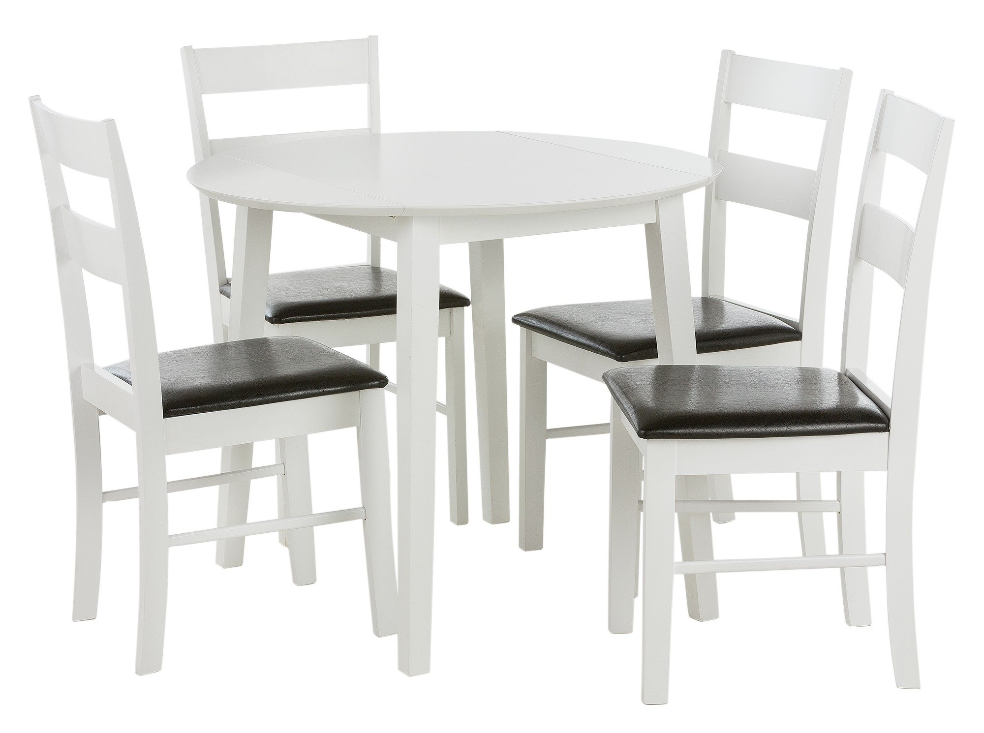 home wyton round drop leaf table 4 chairs review. Black Bedroom Furniture Sets. Home Design Ideas